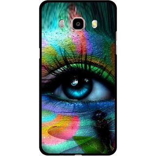 Snooky Printed Designer Eye Mobile Back Cover For Samsung Galaxy J7 (2016) - Multicolour