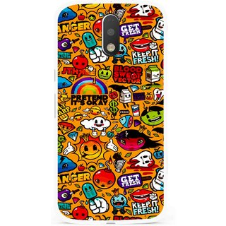 Snooky Printed Freaky Print Mobile Back Cover For Moto G4 Plus - Multi