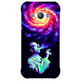 Snooky Printed Universe Mobile Back Cover For Samsung Galaxy Ace J1 - Multicolour