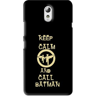 Snooky Printed Keep Calm Mobile Back Cover For Lenovo Vibe P1M - Multi