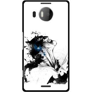 Snooky Printed Super Hero Mobile Back Cover For Microsoft Lumia 950 XL - Multicolour