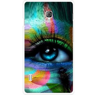 Snooky Printed Designer Eye Mobile Back Cover For Lg Optimus L7 II P715 - Multicolour