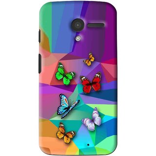 Snooky Printed Trendy Buterfly Mobile Back Cover For Moto X - Multi