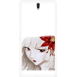 Snooky Printed Chinies Girl Mobile Back Cover For Sony Xperia C5 - Multicolour