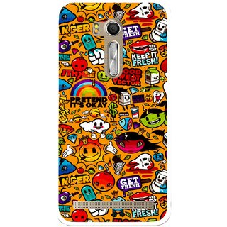 Snooky Printed Freaky Print Mobile Back Cover For Asus Zenfone Go ZB551KL - Multi