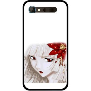 Snooky Printed Chinies Girl Mobile Back Cover For Intex Aqua Y2 Pro - Multicolour