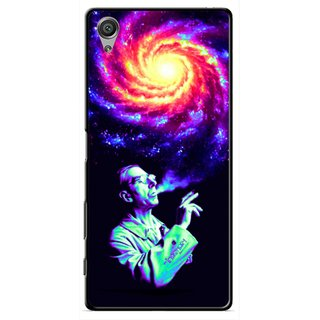 Snooky Printed Universe Mobile Back Cover For Sony Xperia X - Multicolour