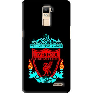 Snooky Printed Football Club Mobile Back Cover For Oppo R7 Plus - Multi