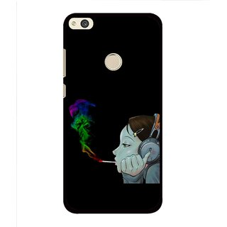 Snooky Printed Color Of Smoke Mobile Back Cover For Huawei Honor 8 Lite - Multi