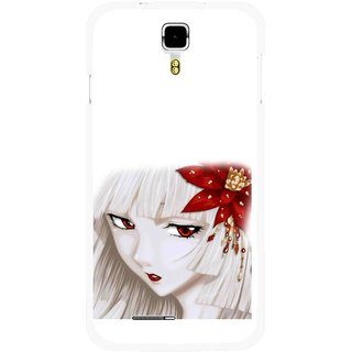 Snooky Printed Chinies Girl Mobile Back Cover For Micromax Canvas Juice A177 - Multicolour