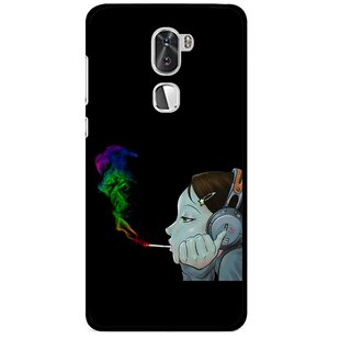 Snooky Printed Color Of Smoke Mobile Back Cover For Coolpad Cool 1 - Multi