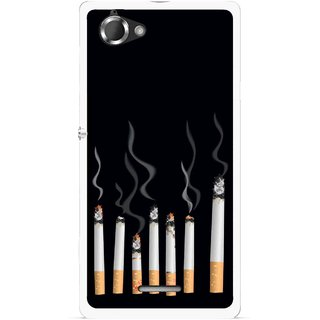 Snooky Printed Smoking Mobile Back Cover For Sony Xperia L - Multicolour