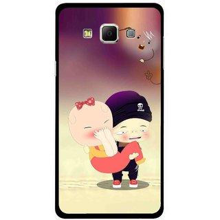 Snooky Printed Friendship Mobile Back Cover For Samsung Galaxy E5 - Multicolour