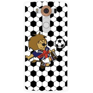 Snooky Printed Football Cup Mobile Back Cover For Lg V10 - Multi