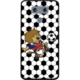 Snooky Printed Football Cup Mobile Back Cover For LG G6 - Multi