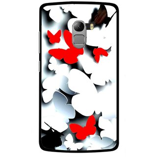 Snooky Printed Butterfly Mobile Back Cover For Lenovo K4 Note - Multicolour