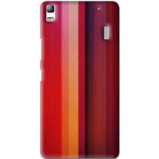 Snooky Printed Colorfull Stripes Mobile Back Cover For Lenovo A7000 - Multi