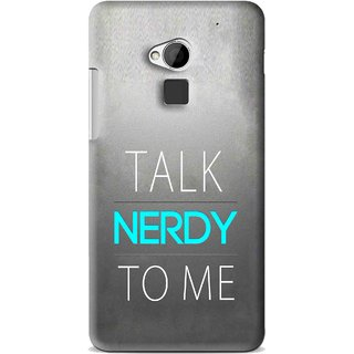 Snooky Printed Talk Nerdy Mobile Back Cover For HTC One Max - Multi