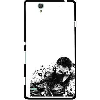 Snooky Printed Commando Mobile Back Cover For Sony Xperia C4 - Multicolour