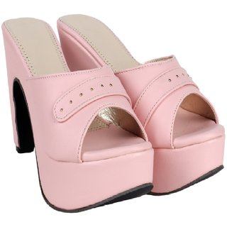 d87eb44a99 Buy Do Bhai Women's Pink Heels Online @ ₹499 from ShopClues