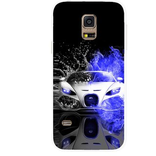 Snooky Printed Super Car Mobile Back Cover For Samsung Galaxy S5 Mini - Multicolour