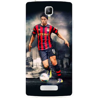 Snooky Printed Football Mania Mobile Back Cover For Oppo Neo 3 R831k - Multicolour