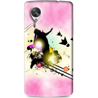 Snooky Printed Flying Man Mobile Back Cover For Lg Google Nexus 5 - Multi