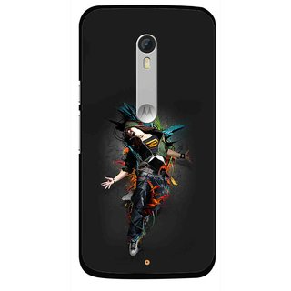 Snooky Printed Music Mania Mobile Back Cover For Motorola Moto X Style - Multi
