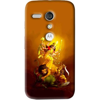 Snooky Printed Maa Durga Mobile Back Cover For Moto G - Multi