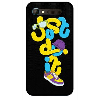 Snooky Printed Just Do it Mobile Back Cover For Intex Aqua Y2 Pro - Multicolour