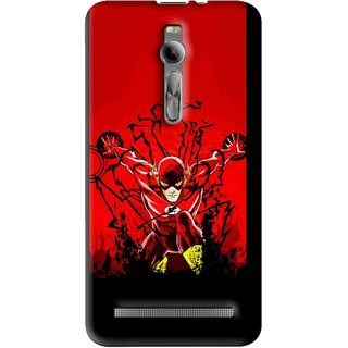 Snooky Printed Super Hero Mobile Back Cover For Asus Zenfone 2 - Multi