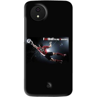 Snooky Printed Football Passion Mobile Back Cover For Micromax Canvas Android One - Multi