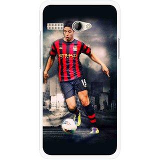 Snooky Printed Football Mania Mobile Back Cover For Intex Aqua 3G Pro - Multicolour