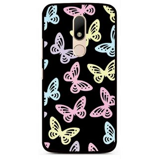 Snooky Printed Butterfly Mobile Back Cover For Motorola Moto M - Multi