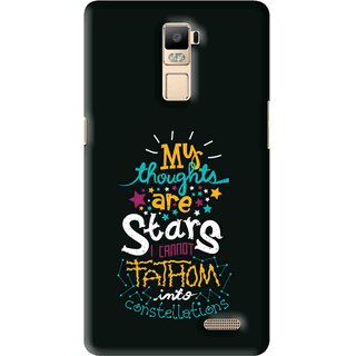 Snooky Printed Thoughts Are Stars Mobile Back Cover For Oppo R7 Plus - Multi