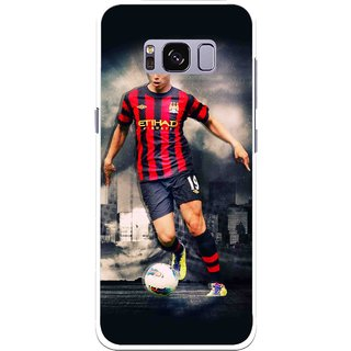 Snooky Printed Football Mania Mobile Back Cover For Samsung Galaxy S8 - Multicolour
