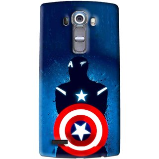 Snooky Printed America Sheild Mobile Back Cover For Lg G4 - Multi