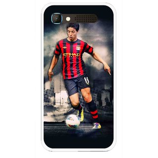 Snooky Printed Football Mania Mobile Back Cover For Intex Aqua Y2 Pro - Multicolour