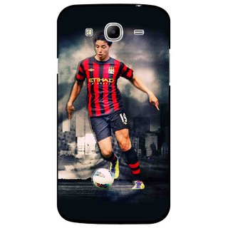 Snooky Printed Football Mania Mobile Back Cover For Samsung Galaxy Mega 5.8 - Multicolour