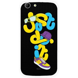 Snooky Printed Just Do it Mobile Back Cover For Micromax Canvas 4 A210 - Multicolour