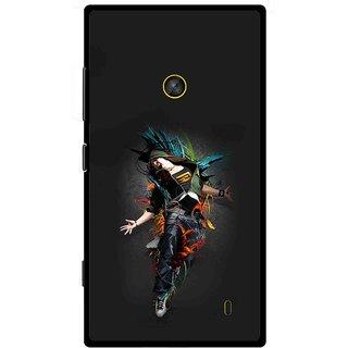 Snooky Printed Music Mania Mobile Back Cover For Nokia Lumia 520 - Multi