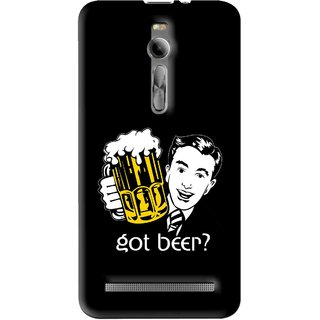Snooky Printed Got Beer Mobile Back Cover For Asus Zenfone 2 - Multi