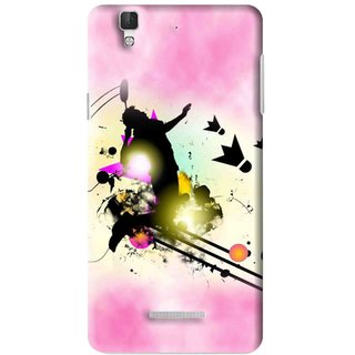 Snooky Printed Flying Man Mobile Back Cover For Micromax YU YUREKA - Multi