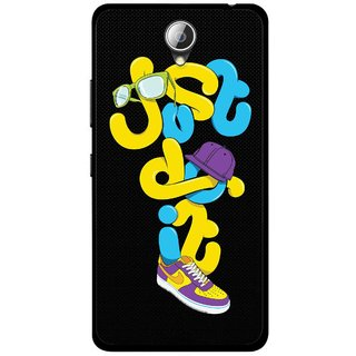 Snooky Printed Just Do it Mobile Back Cover For Lenovo A5000 - Multicolour