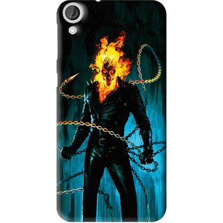 Snooky Printed Ghost Rider Mobile Back Cover For HTC Desire 820 - Multi