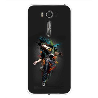 Snooky Printed Music Mania Mobile Back Cover For Asus Zenfone 2 Laser ZE500KL - Multi