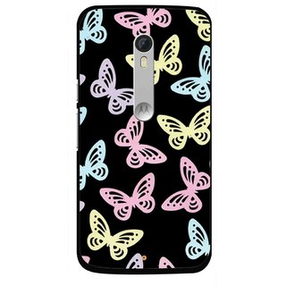 Snooky Printed Butterfly Mobile Back Cover For Motorola Moto X Style - Multi