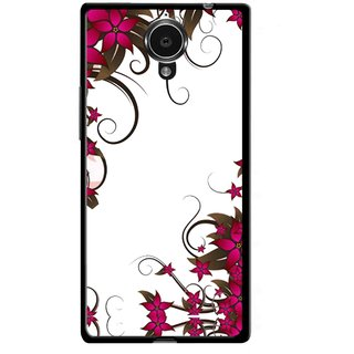 Snooky Printed Flower Creep Mobile Back Cover For Gionee Elife E7 - Multicolour