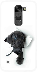 Snooky Printed Cute Dog Mobile Back Cover For Lg Stylus 2 - Multi