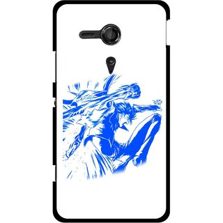 Snooky Printed Horse Boy Mobile Back Cover For Sony Xperia SP - Multicolour